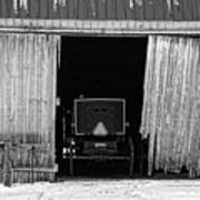 Buggy In The Barn Art Print