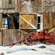 Buggy 'n Barn Art Print