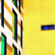 Building Block - Yellow Art Print