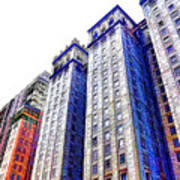 Building Closeup In Manhattan 15 Art Print