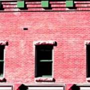 Building In Red And Green Art Print