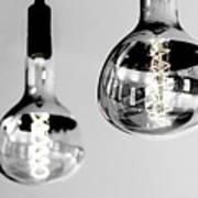 Bulbs - Black And White Art Print