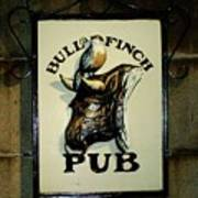Bull And Finch Pub Art Print