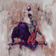 Bull Fight 009k Art Print