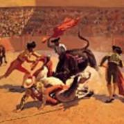 Bull Fight In Mexico 1889 Art Print