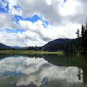 Bull Lake Cloud Reflection Art Print