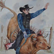 Bull Rider Art Print