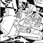 Bulldozer Monkeys Art Print