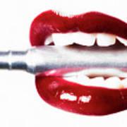 Bullet Lips Art Print