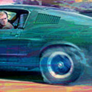 Bullitt Mustang Art Print by David Lloyd Glover