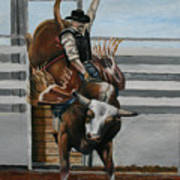 Bullrider Art Print