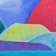 Bumps Of West Maui II Art Print