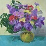 Bunch Of Spring Flowers Art Print