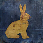 Bunny In Blue Art Print