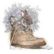 Bunny In Boot Art Print