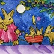Bunny Parade Art Print