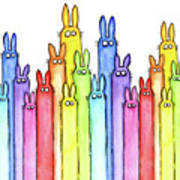 Bunny Rainbow Pattern Art Print
