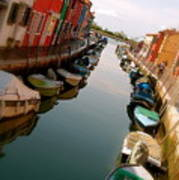 Burano Canal Art Print