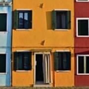 Burano Homes Art Print