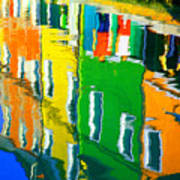 Burano Reflections Art Print