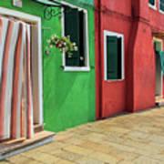 Burano Street Art Print