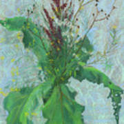 Burdock Leaves  Art Print