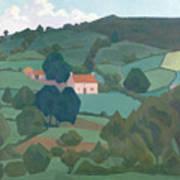 Burford Farm, Devon, 1918 Art Print