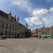 Burg Square In Bruges Belgium Art Print