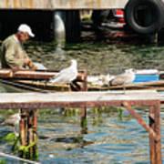 Burgazada Island Fisherman Art Print