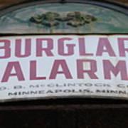 Burglar Alarm Art Print