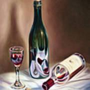 Burgundy Still Art Print