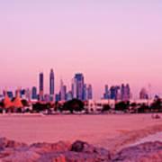 Burj Khalifa Previously Burj Dubai At Sunset Art Print