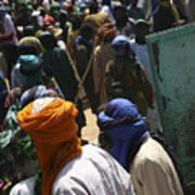 Burkina turbans Art Print