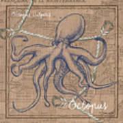 Burlap Octopus Art Print