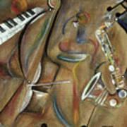 Burlap Sax Art Print
