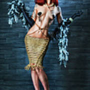 Burlesque Lady - Fine Art Of Bondage Art Print