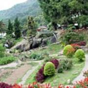 Burma Village Garden And Pond Art Print