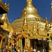 Burma's Golden Pagoda Art Print