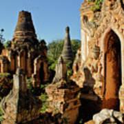 Burmese Pagodas In Ruins Art Print