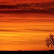 Burning Country Sky Art Print