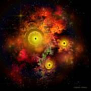 Burning Embers Nebula Art Print