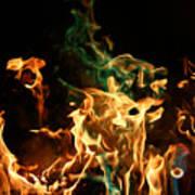 Burning Green Art Print