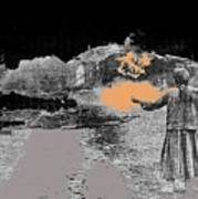 Burning House Destroyed By The Ss Soviet Union Number Two 1941 Color Added 2016 Art Print