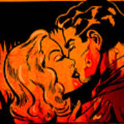 Burning Kiss Of Fire Art Print