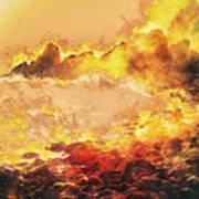 Burning Shore Art Print