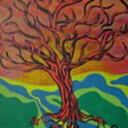 Burning Tree Art Print