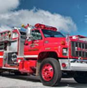 Burnington Iolta Fire Rescue - Tanker Engine 1550, North Carolina Art Print