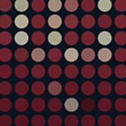 Burnt Dots Art Print