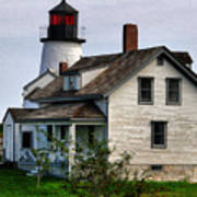 Burnt Island Lighthouse Side View Art Print