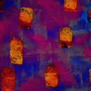 Burnt Orange Floating Art Print